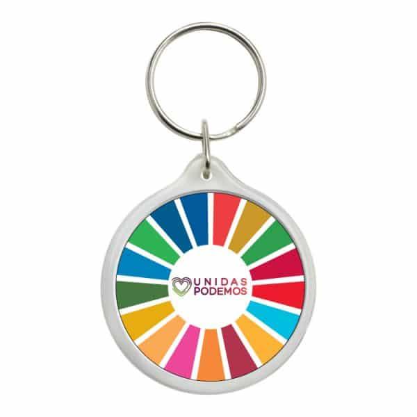 llavero redondo ods desarrollo sostenible unidas podemos
