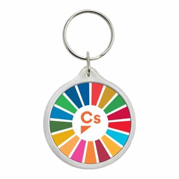 llavero redondo ods sdg desarrollo sostenible ciudadanos cs
