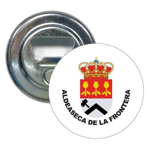 abridor redondo escudo heraldico aldeaseca de la frontera