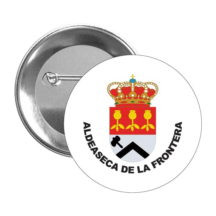chapa escudo heraldico aldeaseca de la frontera