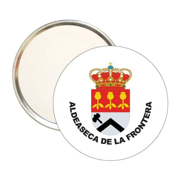 espejo redondo escudo heraldico aldeaseca de la frontera