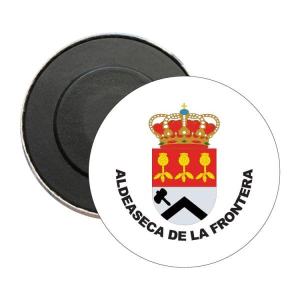 iman redondo escudo heraldico aldeaseca de la frontera