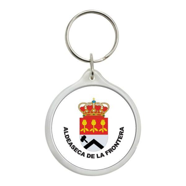 llavero redondo escudo heraldico aldeaseca de la frontera