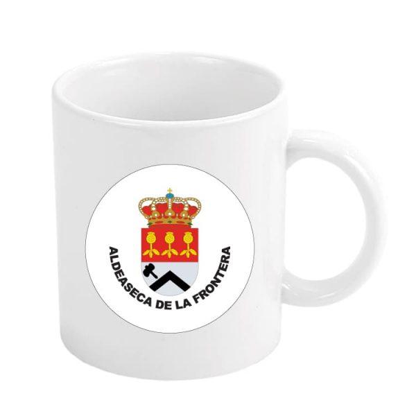 taza escudo heraldico aldeaseca de la frontera