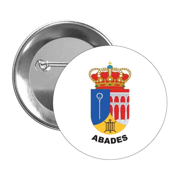918 chapa escudo heraldico abades