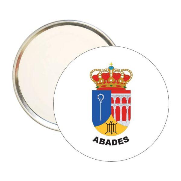 espejo redondo escudo heraldico abades
