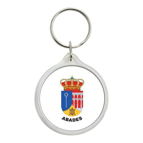 llavero redondo escudo heraldico abades