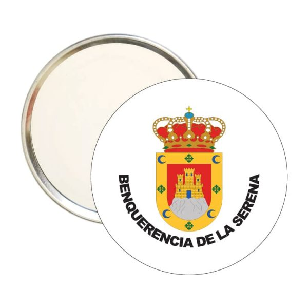 espejo redondo escudo heraldico benquerencia de la serena