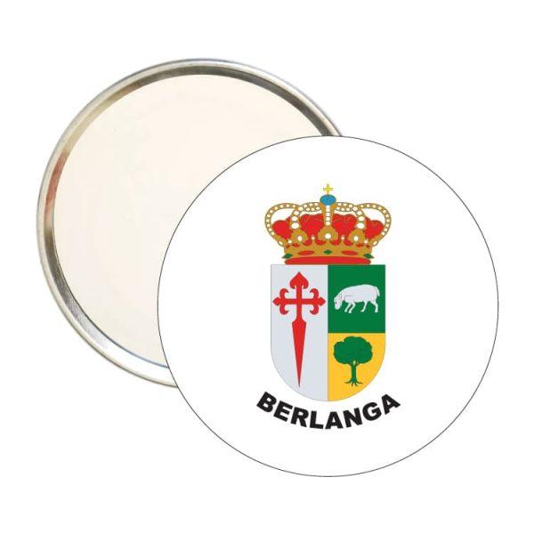 espejo redondo escudo heraldico berlanga