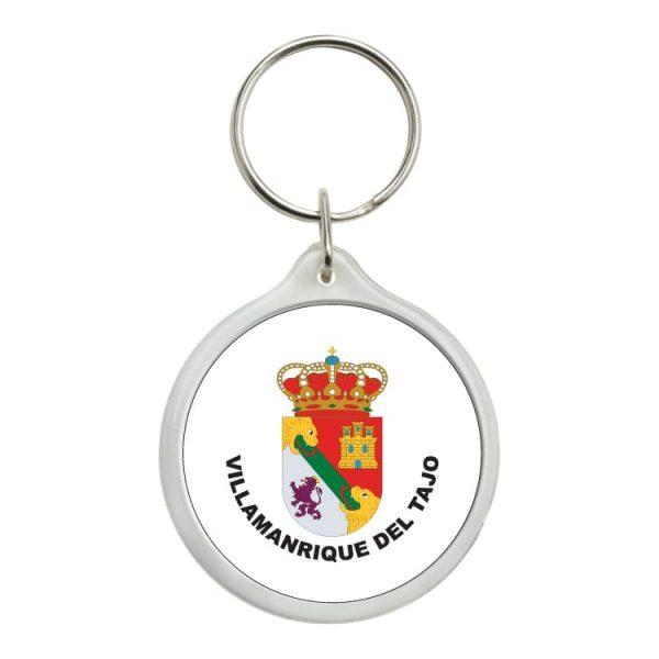 llavero redondo escudo heraldico villamanrique del tajo