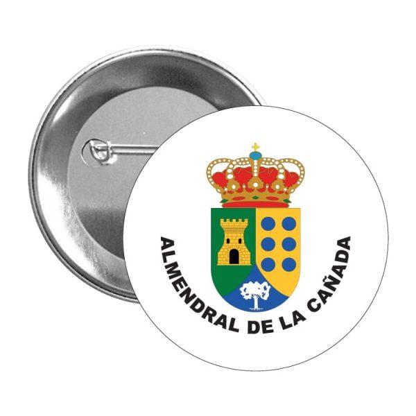 chapa escudo heraldico almendral de la canada