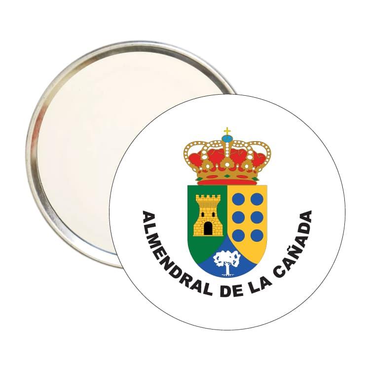 espejo redondo escudo heraldico almendral de la canada