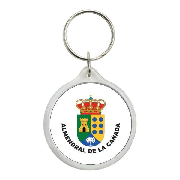 llavero redondo escudo heraldico almendral de la canada