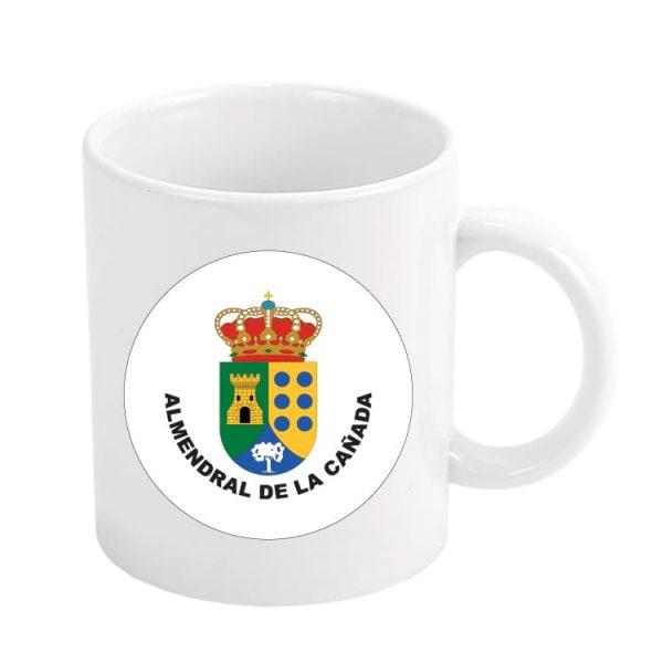 taza escudo heraldico almendral de la canada