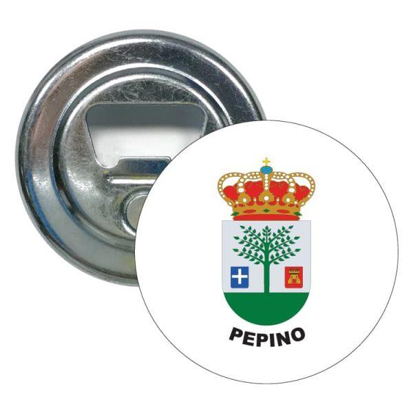abridor redondo escudo heraldico pepino