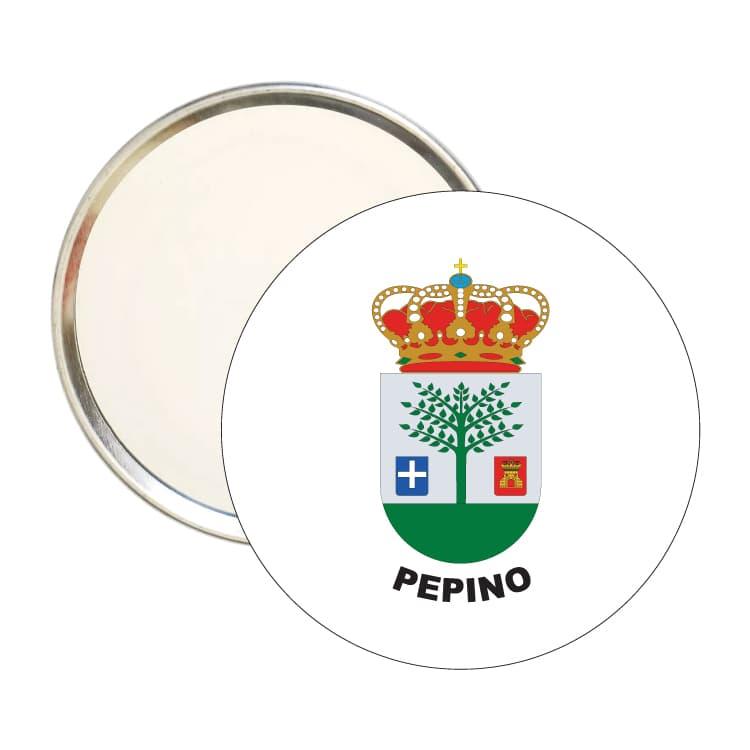espejo redondo escudo heraldico pepino