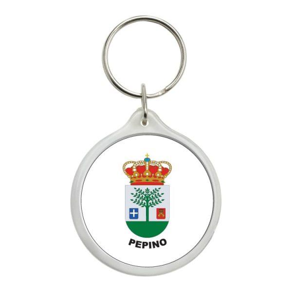 llavero redondo escudo heraldico pepino