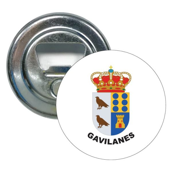 abridor redondo escudo heraldico gavilanes