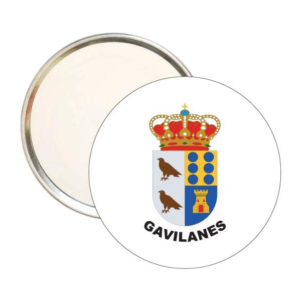 espejo redondo escudo heraldico gavilanes