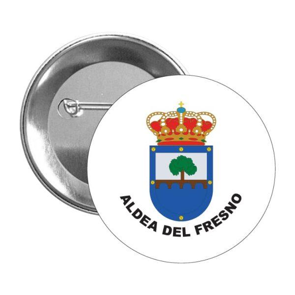 chapa escudo heraldico aldea del fresmo