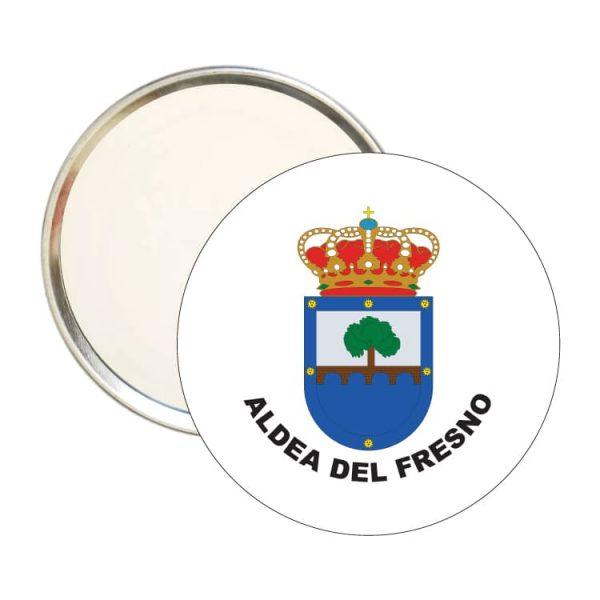 espejo redondo escudo heraldico aldea del fresmo