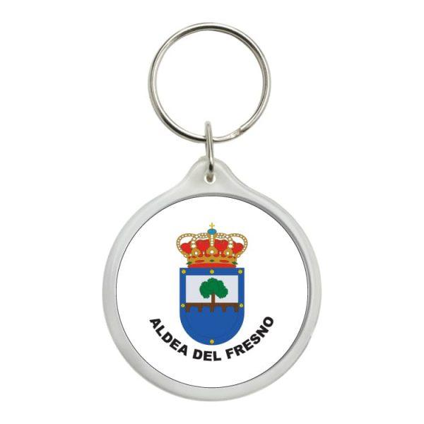llavero redondo escudo heraldico aldea del fresmo