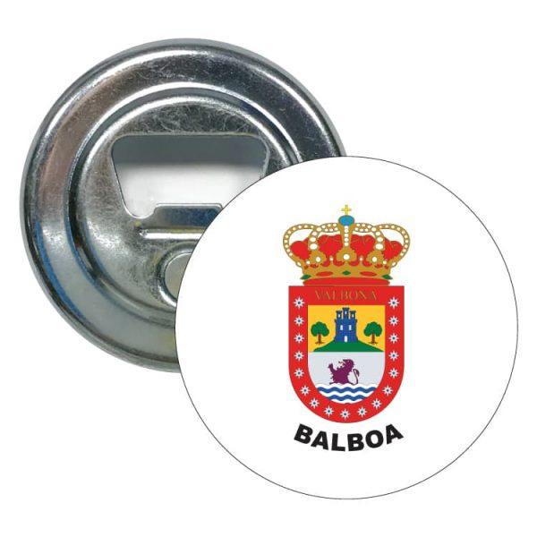 abridor redondo escudo heraldico balboa