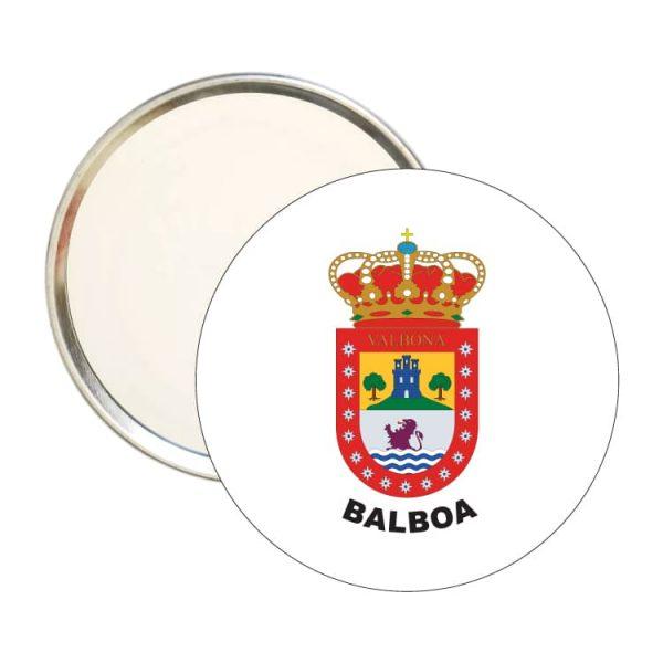 espejo redondo escudo heraldico balboa