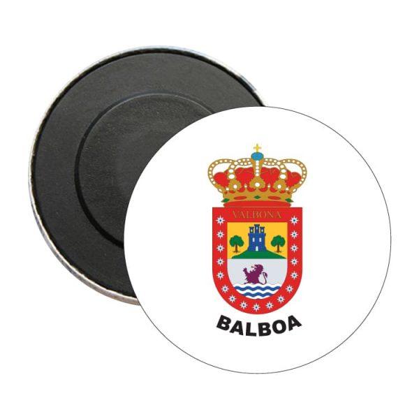iman redondo escudo heraldico balboa