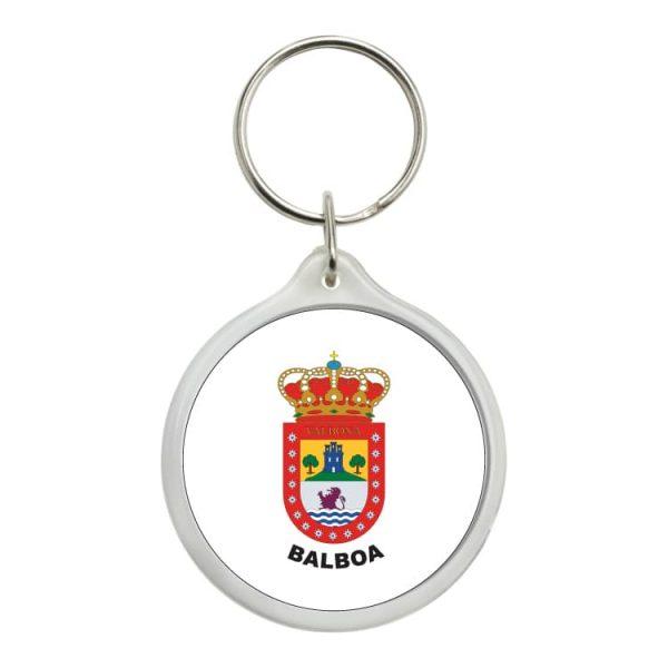 llavero redondo escudo heraldico balboa