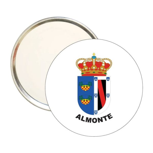 espejo redondo escudo heraldico almonte