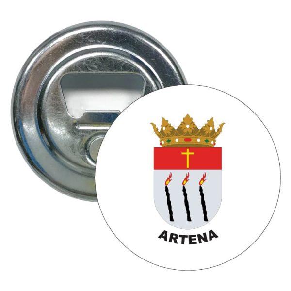 abridor redondo escudo heraldico artena