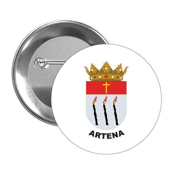 chapa escudo heraldico artena