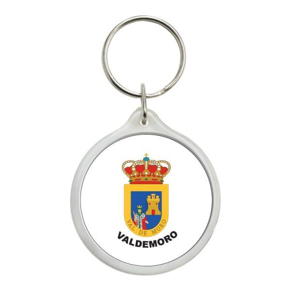 llavero redondo escudo heraldico valdemoro