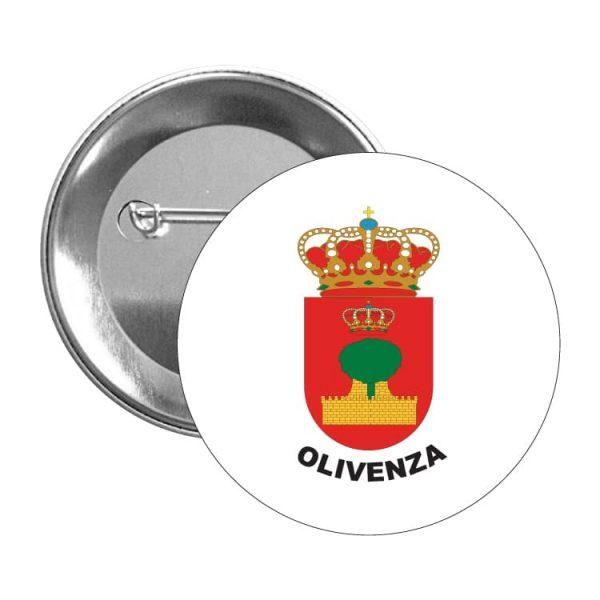 chapa escudo heraldico olivenza