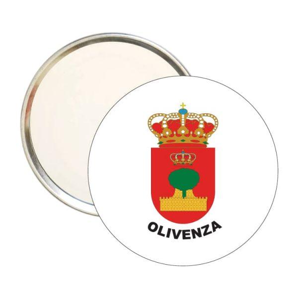 espejo redondo escudo heraldico olivenza
