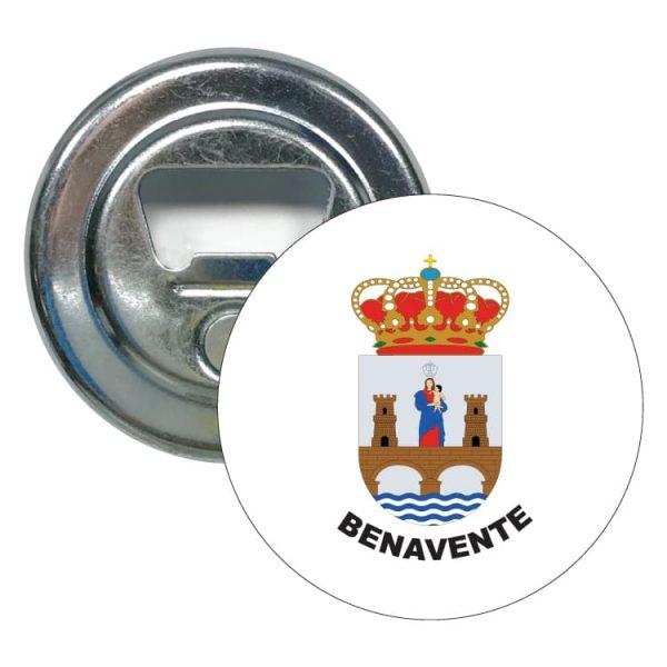 abridor redondo escudo heraldico benavente