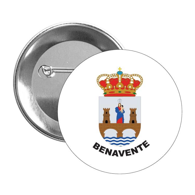 chapa escudo heraldico benavente