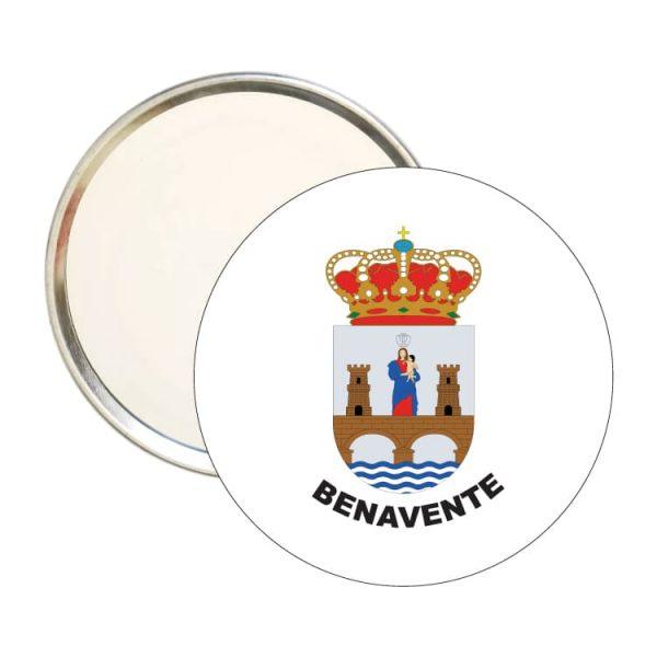 espejo redondo escudo heraldico benavente
