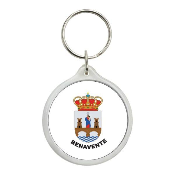 llavero redondo escudo heraldico benavente