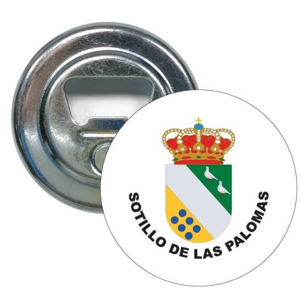 abridor redondo escudo heraldico sotillo de las palomas