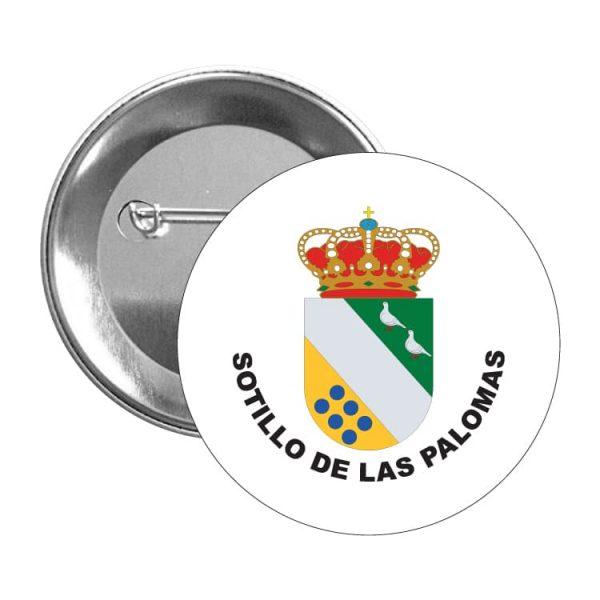 chapa escudo heraldico sotillo de las palomas
