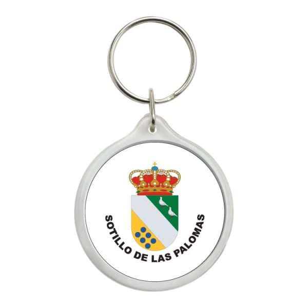 llavero redondo escudo heraldico sotillo de las palomas