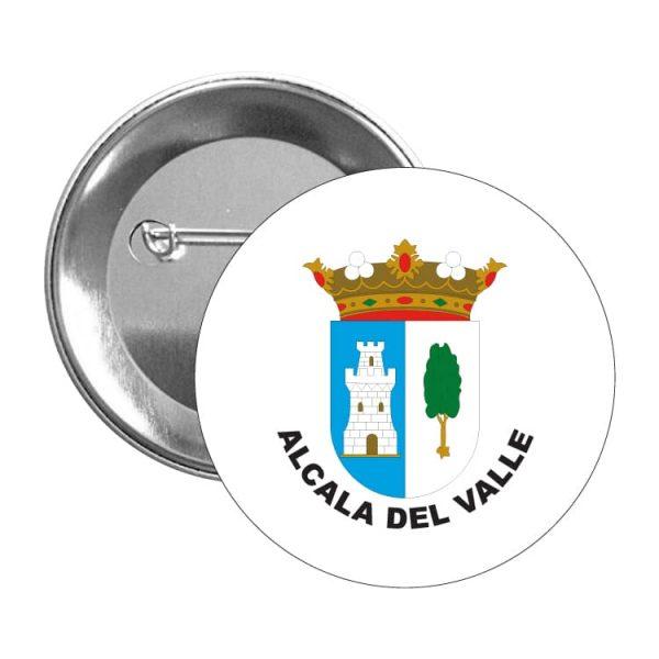 chapa escudo heraldico alcala del valle