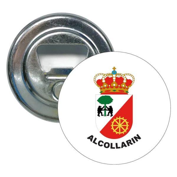 abridor redondo escudo heraldico alcollarin