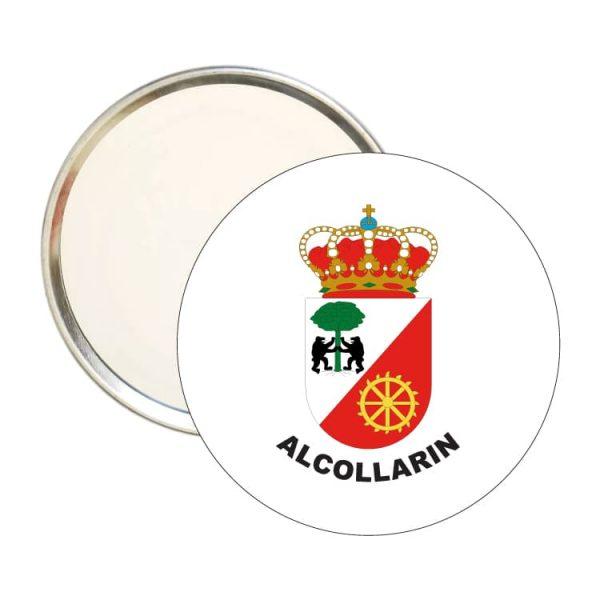 espejo redondo escudo heraldico alcollarin