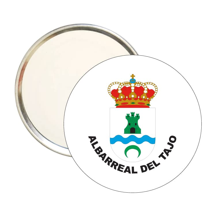 espejo redondo escudo heraldico albarreal del tajo