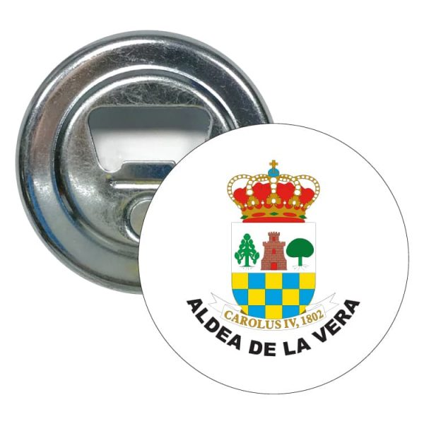 abridor redondo escudo heraldico aldea de la vera