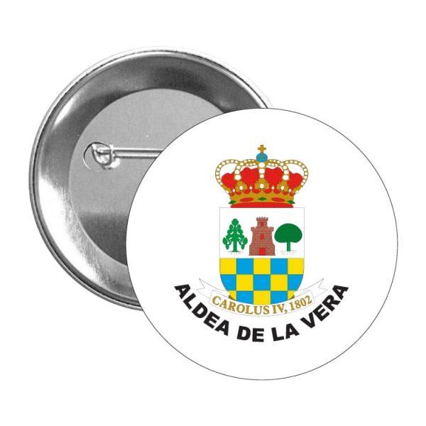 944 chapa escudo heraldico aldea de la vera