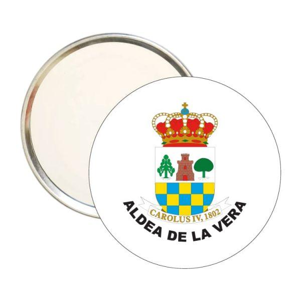 espejo redondo escudo heraldico aldea de la vera